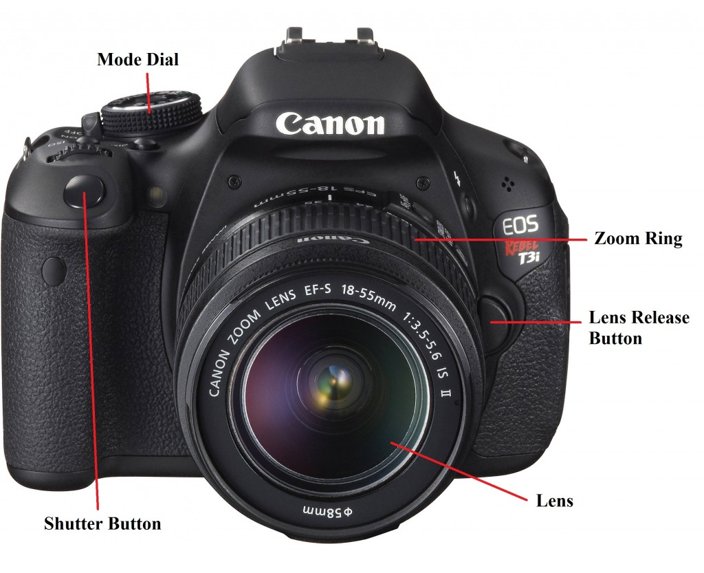 Canon T3i DLSR - Front