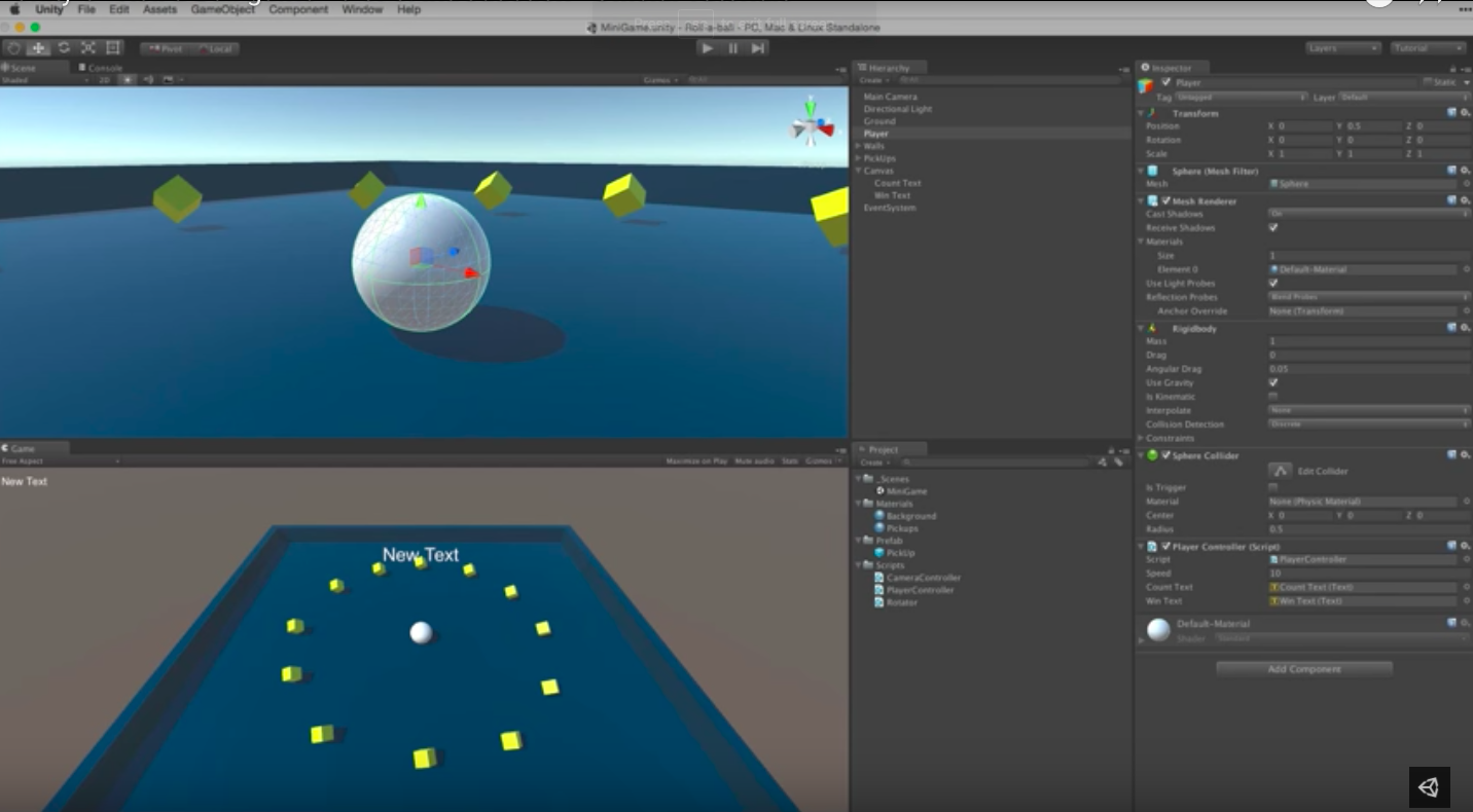 Screenshot from Unity YouTube Channel