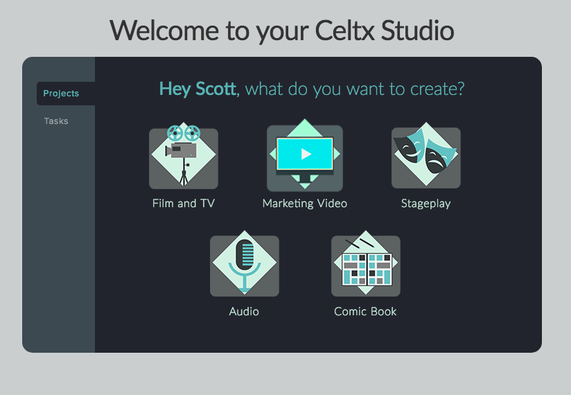 Welcome to Celtx