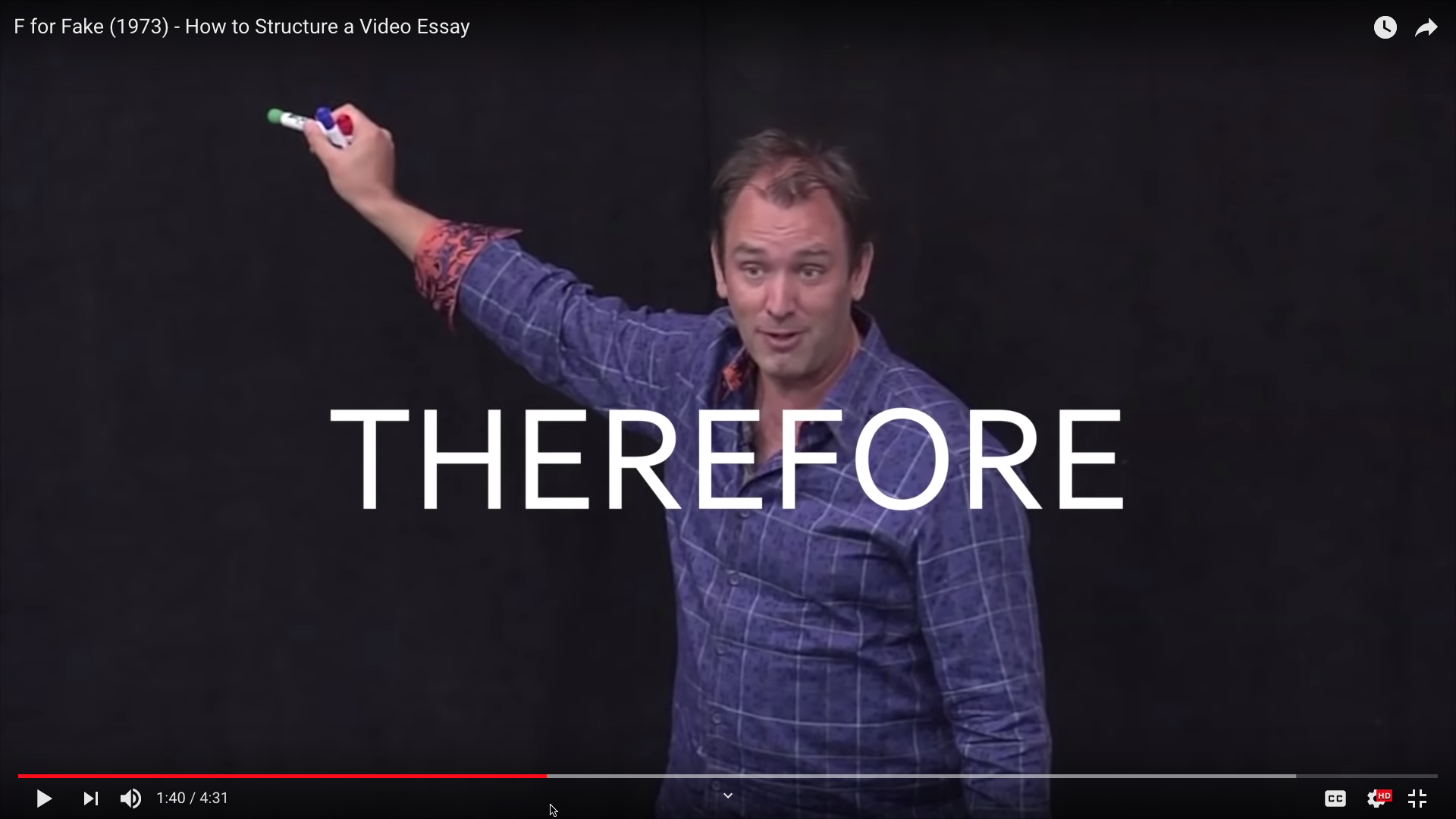 F to fake how to structure a video essay